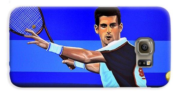 Novak Djokovic Galaxy S6 Case by Paul Meijering