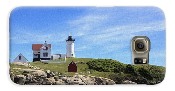 Nubble Light House Galaxy S6 Case by Linda Constant