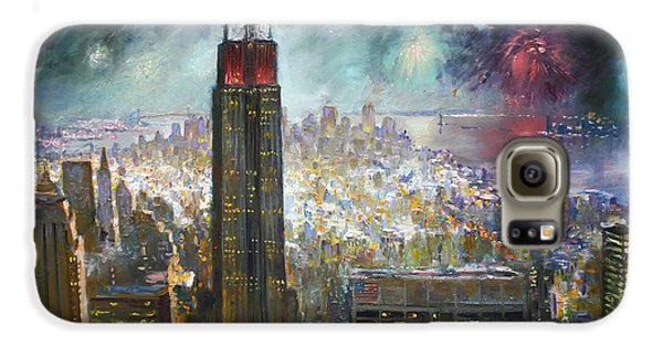 Nyc. Empire State Building Galaxy S6 Case by Ylli Haruni
