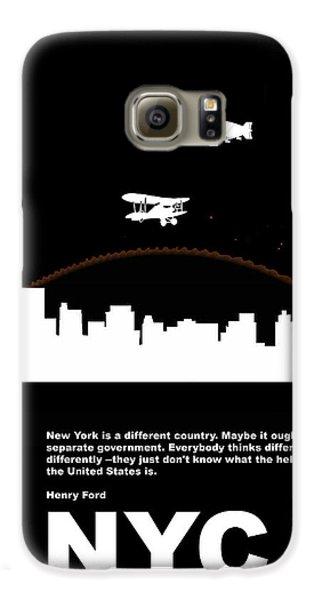 Broadway Galaxy S6 Case - Nyc Night Poster by Naxart Studio