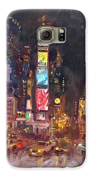 Nyc Times Square Galaxy S6 Case