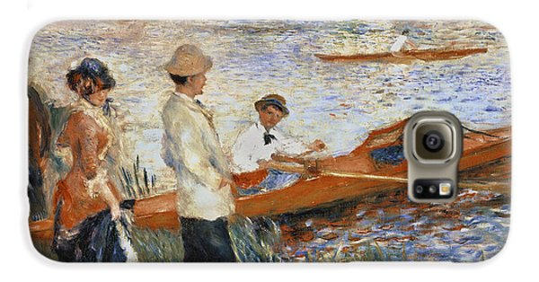 Boat Galaxy S6 Case - Oarsmen At Chatou by Pierre Auguste Renoir