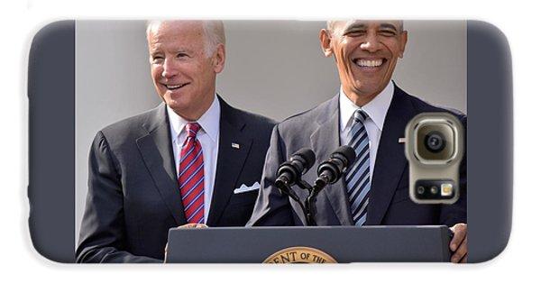 Joe Biden Galaxy S6 Case - Obama And Biden by Anna Wilding