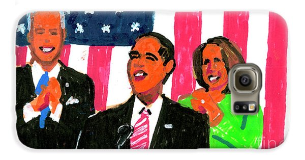 Obama's State Of The Union '10 Galaxy S6 Case by Candace Lovely