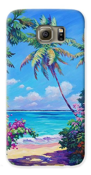 Ocean View With Breadfruit Tree Galaxy S6 Case by John Clark