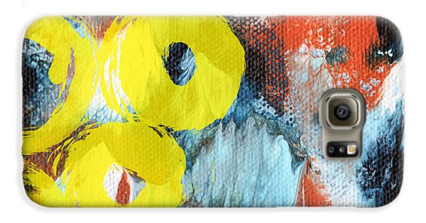 October- Abstract Art By Linda Woods Galaxy S6 Case