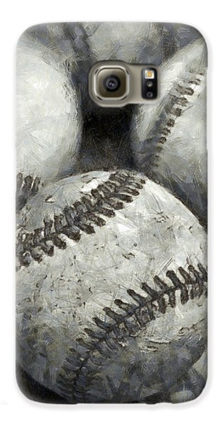 Old Baseballs Pencil Galaxy S6 Case by Edward Fielding