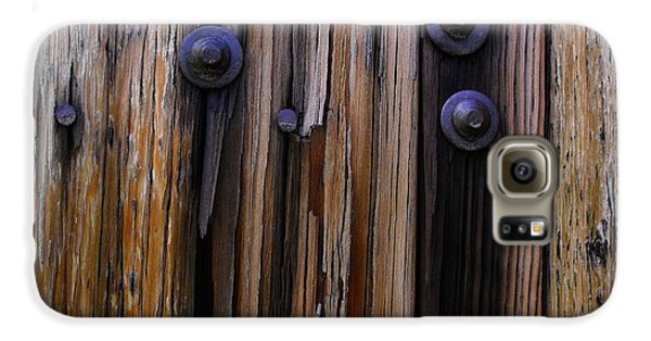 Old Door With Bolts And Nails Galaxy S6 Case
