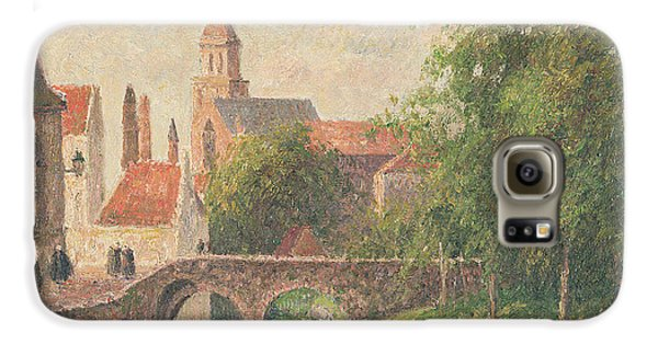 Town Galaxy S6 Case - Old Bridge In Bruges  by Camille Pissarro