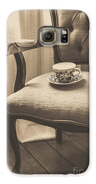 Old Friend China Tea Up On Chair Galaxy S6 Case by Edward Fielding