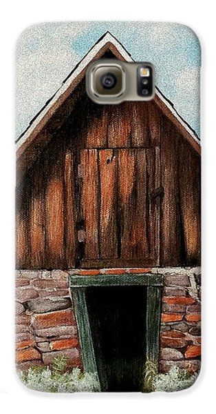 Galaxy S6 Case featuring the painting Old Root House by Anastasiya Malakhova