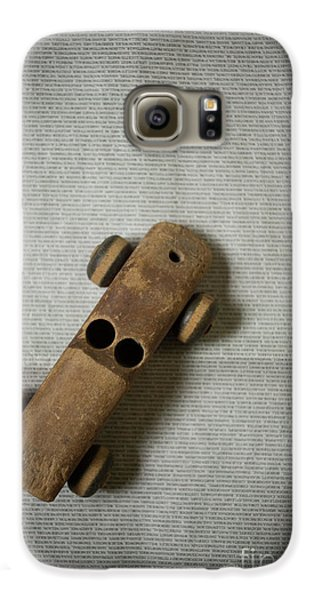 Old Wooden Toy Car Still Life Galaxy S6 Case by Edward Fielding
