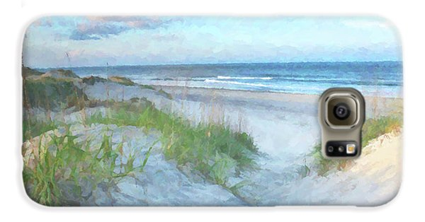 On The Beach Watercolor Galaxy S6 Case
