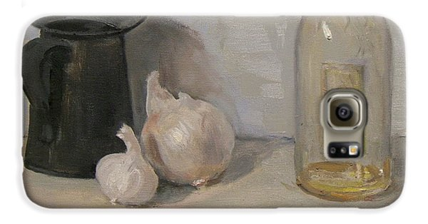 Onion And Garlic,tin Can, And Painting Medium Bottle Galaxy S6 Case