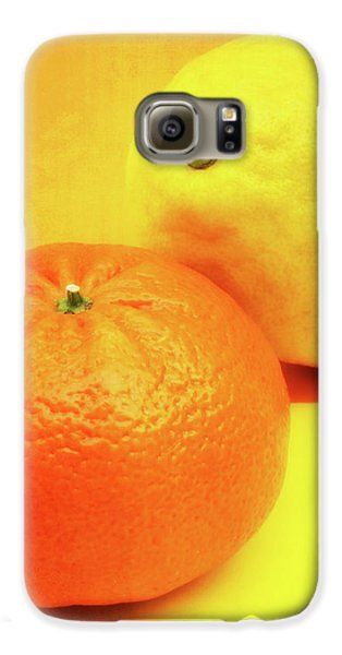 Orange And Lemon Galaxy S6 Case by Wim Lanclus
