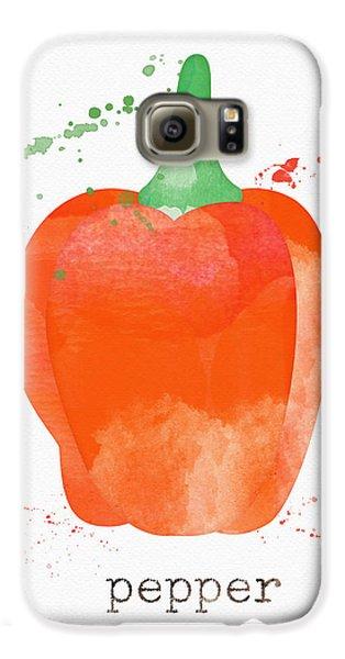 Truck Galaxy S6 Case - Orange Bell Pepper  by Linda Woods