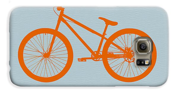 Transportation Galaxy S6 Case - Orange Bicycle  by Naxart Studio