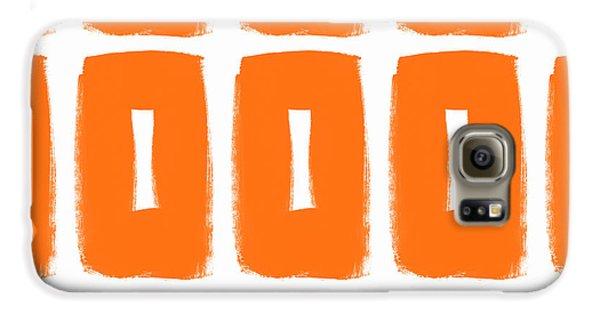 Orange Boxes- Art By Linda Woods Galaxy S6 Case by Linda Woods