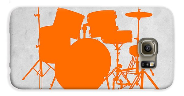 Orange Drum Set Galaxy S6 Case by Naxart Studio