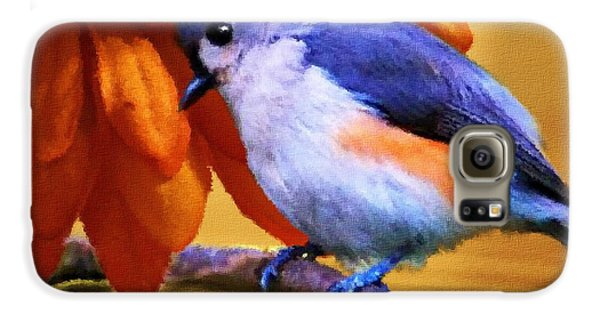 Titmouse Galaxy S6 Case - Orange Medley by Jai Johnson