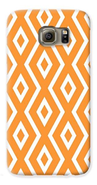 Orange Pattern Galaxy S6 Case