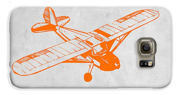 Airplane Galaxy S6 Case - Orange Plane 2 by Naxart Studio