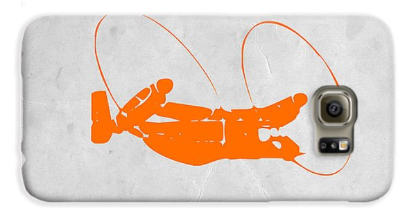 Helicopter Galaxy S6 Case - Orange Plane by Naxart Studio