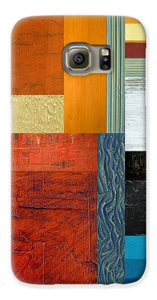Galaxy S6 Case featuring the painting Orange Study With Compliments 1.0 by Michelle Calkins