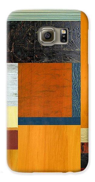 Galaxy S6 Case featuring the painting Orange Study With Compliments 2.0 by Michelle Calkins