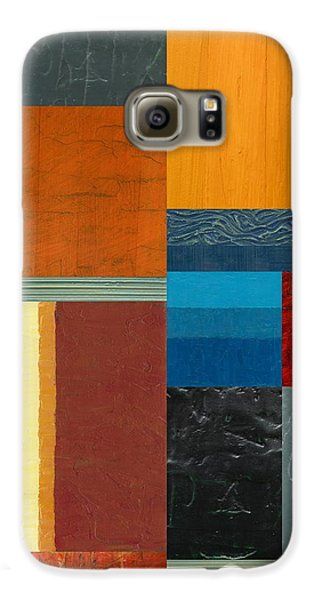 Galaxy S6 Case featuring the painting Orange Study With Compliments 3.0 by Michelle Calkins