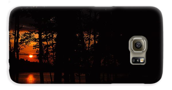 Orange Sunset Galaxy S6 Case