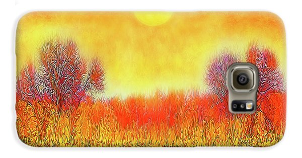 Orange Sunset Shimmer - Field In Boulder County Colorado Galaxy S6 Case