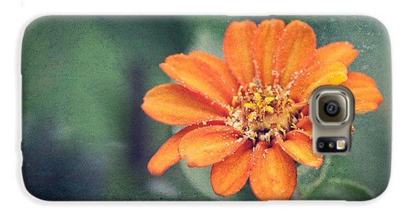 Orange Zinnia Galaxy S6 Case