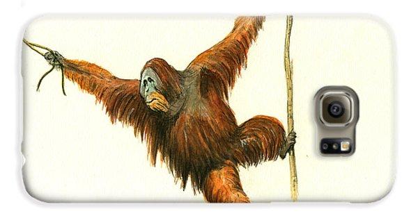 Orangutan Galaxy S6 Case by Juan Bosco
