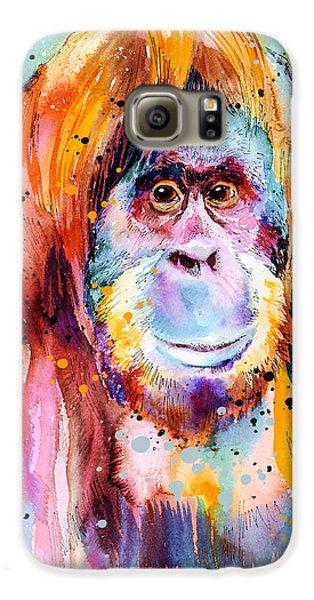 Orangutan  Galaxy S6 Case by Slavi Aladjova
