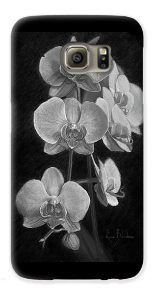 Orchids - Black And White Galaxy S6 Case by Lucie Bilodeau