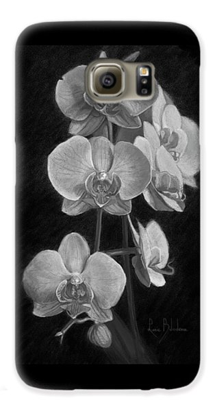 Orchid Galaxy S6 Case - Orchids - Black And White by Lucie Bilodeau