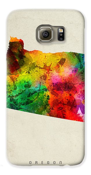 Oregon State Map 01 Galaxy S6 Case by Aged Pixel