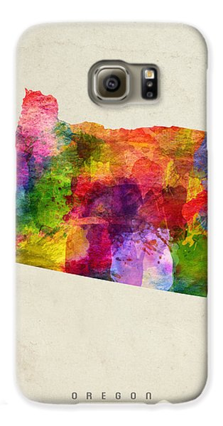 Oregon State Map 02 Galaxy S6 Case by Aged Pixel