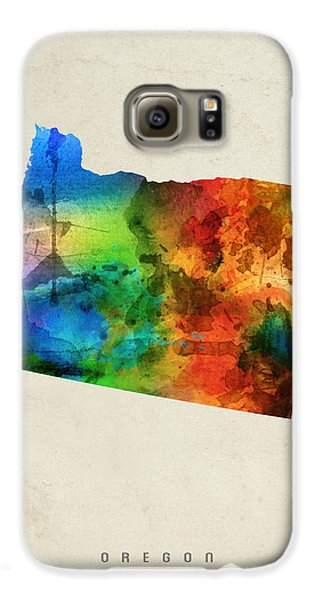Oregon State Map 03 Galaxy S6 Case by Aged Pixel