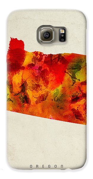 Oregon State Map 04 Galaxy S6 Case by Aged Pixel