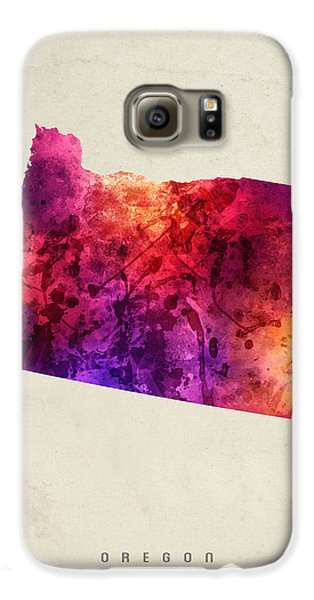 Oregon State Map 05 Galaxy S6 Case by Aged Pixel