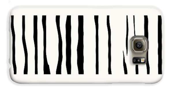Organic No 12 Black And White Line Abstract Galaxy S6 Case