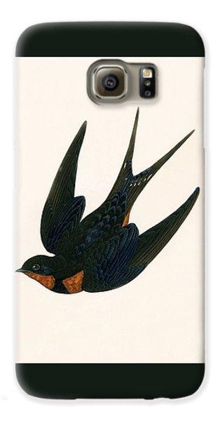 Oriental Chimney Swallow Galaxy S6 Case by English School