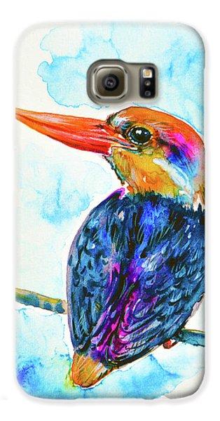 Oriental Dwarf Kingfisher Galaxy S6 Case by Zaira Dzhaubaeva