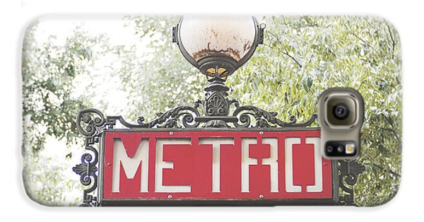 Ornate Paris Metro Sign Galaxy S6 Case by Ivy Ho