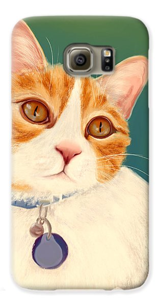 Oscar- Orange Tabby  Galaxy S6 Case