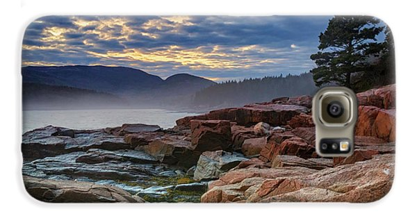Otter Galaxy S6 Case - Otter Cove In The Mist by Rick Berk