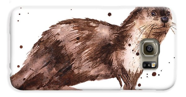 Otter Painting Galaxy S6 Case by Alison Fennell