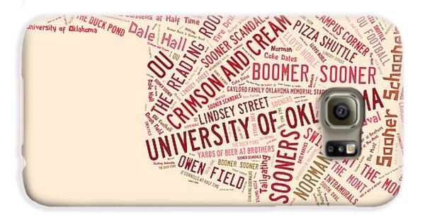 Ou Word Art University Of Oklahoma Galaxy S6 Case by Roberta Peake